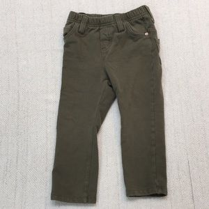 CHILDREN'S PLACE  olive green stretch pants